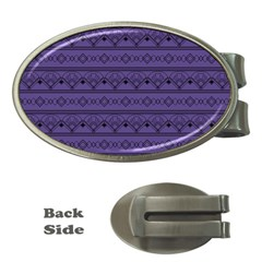 Color Of The Year 2018   Ultraviolet   Art Deco Black Edition Money Clips (oval)