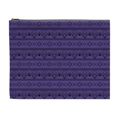 Color Of The Year 2018   Ultraviolet   Art Deco Black Edition Cosmetic Bag (xl)