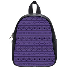 Color Of The Year 2018   Ultraviolet   Art Deco Black Edition School Bag (small)