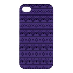 Color Of The Year 2018   Ultraviolet   Art Deco Black Edition Apple Iphone 4/4s Hardshell Case