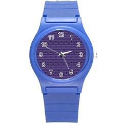 Color Of The Year 2018   Ultraviolet   Art Deco Black Edition Round Plastic Sport Watch (s)