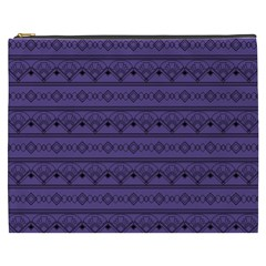 Color Of The Year 2018   Ultraviolet   Art Deco Black Edition Cosmetic Bag (xxxl)