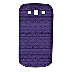 Color Of The Year 2018   Ultraviolet   Art Deco Black Edition Samsung Galaxy S Iii Classic Hardshell Case (pc+silicone)