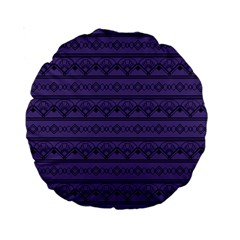 Color Of The Year 2018   Ultraviolet   Art Deco Black Edition Standard 15  Premium Round Cushions