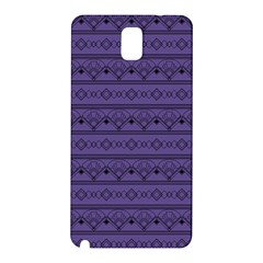 Color Of The Year 2018   Ultraviolet   Art Deco Black Edition Samsung Galaxy Note 3 N9005 Hardshell Back Case