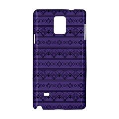 Color Of The Year 2018   Ultraviolet   Art Deco Black Edition Samsung Galaxy Note 4 Hardshell Case