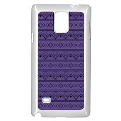 Color Of The Year 2018   Ultraviolet   Art Deco Black Edition Samsung Galaxy Note 4 Case (white)