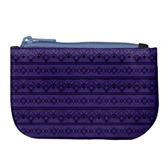 Color Of The Year 2018   Ultraviolet   Art Deco Black Edition Large Coin Purse
