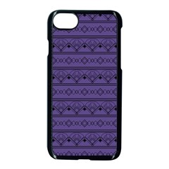 Color Of The Year 2018   Ultraviolet   Art Deco Black Edition Apple Iphone 7 Seamless Case (black)