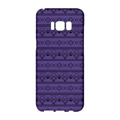 Color Of The Year 2018   Ultraviolet   Art Deco Black Edition Samsung Galaxy S8 Hardshell Case