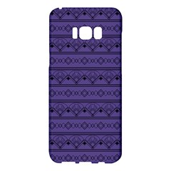 Color Of The Year 2018   Ultraviolet   Art Deco Black Edition Samsung Galaxy S8 Plus Hardshell Case