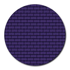 Color Of The Year 2018   Ultraviolet   Art Deco Black Edition Round Mousepads