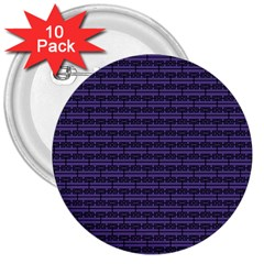 Color Of The Year 2018   Ultraviolet   Art Deco Black Edition 3  Buttons (10 Pack)