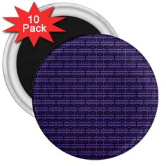 Color Of The Year 2018   Ultraviolet   Art Deco Black Edition 3  Magnets (10 Pack)