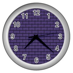 Color Of The Year 2018   Ultraviolet   Art Deco Black Edition Wall Clocks (silver)