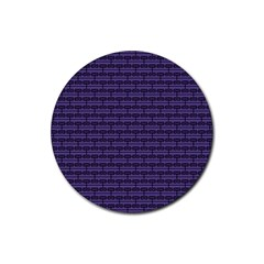 Color Of The Year 2018   Ultraviolet   Art Deco Black Edition Rubber Coaster (round)