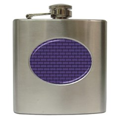 Color Of The Year 2018   Ultraviolet   Art Deco Black Edition Hip Flask (6 Oz)