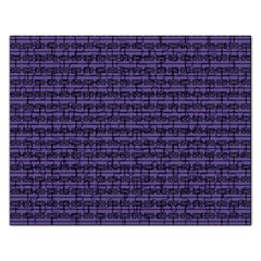 Color Of The Year 2018   Ultraviolet   Art Deco Black Edition Rectangular Jigsaw Puzzl
