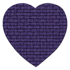 Color Of The Year 2018   Ultraviolet   Art Deco Black Edition Jigsaw Puzzle (heart)