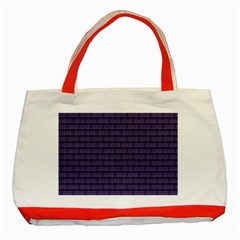 Color Of The Year 2018   Ultraviolet   Art Deco Black Edition Classic Tote Bag (red)