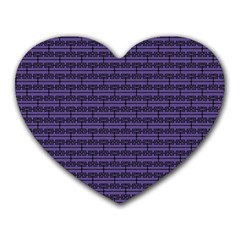 Color Of The Year 2018   Ultraviolet   Art Deco Black Edition Heart Mousepads