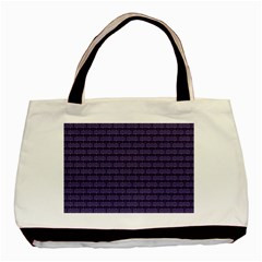 Color Of The Year 2018   Ultraviolet   Art Deco Black Edition Basic Tote Bag (two Sides)