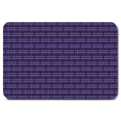 Color Of The Year 2018   Ultraviolet   Art Deco Black Edition Large Doormat