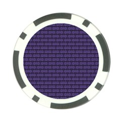 Color Of The Year 2018   Ultraviolet   Art Deco Black Edition Poker Chip Card Guard