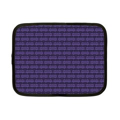 Color Of The Year 2018   Ultraviolet   Art Deco Black Edition Netbook Case (small)