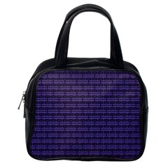 Color Of The Year 2018   Ultraviolet   Art Deco Black Edition Classic Handbags (one Side)