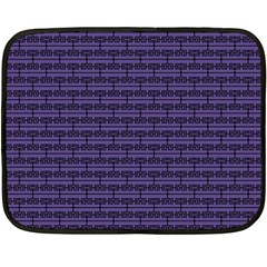 Color Of The Year 2018   Ultraviolet   Art Deco Black Edition Double Sided Fleece Blanket (mini)