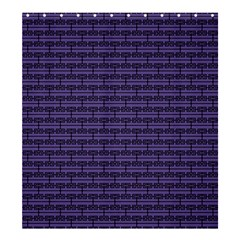 Color Of The Year 2018   Ultraviolet   Art Deco Black Edition Shower Curtain 66  X 72  (large)