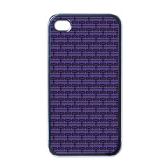 Color Of The Year 2018   Ultraviolet   Art Deco Black Edition Apple Iphone 4 Case (black)