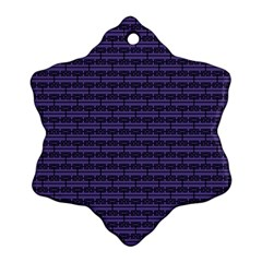 Color Of The Year 2018   Ultraviolet   Art Deco Black Edition Snowflake Ornament (two Sides)