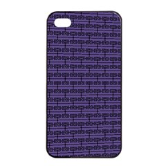 Color Of The Year 2018   Ultraviolet   Art Deco Black Edition Apple Iphone 4/4s Seamless Case (black)