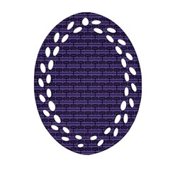 Color Of The Year 2018   Ultraviolet   Art Deco Black Edition Ornament (oval Filigree)
