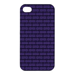 Color Of The Year 2018   Ultraviolet   Art Deco Black Edition Apple Iphone 4/4s Premium Hardshell Case