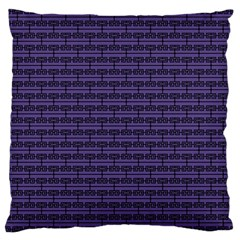Color Of The Year 2018   Ultraviolet   Art Deco Black Edition Large Cushion Case (two Sides)