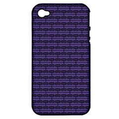 Color Of The Year 2018   Ultraviolet   Art Deco Black Edition Apple Iphone 4/4s Hardshell Case (pc+silicone)