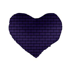 Color Of The Year 2018   Ultraviolet   Art Deco Black Edition Standard 16  Premium Heart Shape Cushions
