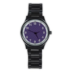 Color Of The Year 2018   Ultraviolet   Art Deco Black Edition Stainless Steel Round Watch