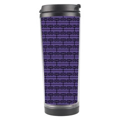 Color Of The Year 2018   Ultraviolet   Art Deco Black Edition Travel Tumbler
