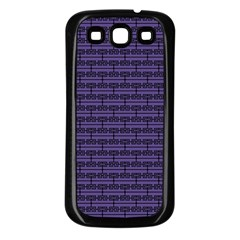 Color Of The Year 2018   Ultraviolet   Art Deco Black Edition Samsung Galaxy S3 Back Case (black)