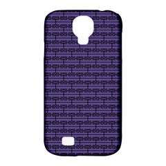 Color Of The Year 2018   Ultraviolet   Art Deco Black Edition Samsung Galaxy S4 Classic Hardshell Case (pc+silicone)