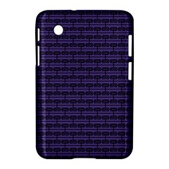 Color Of The Year 2018   Ultraviolet   Art Deco Black Edition Samsung Galaxy Tab 2 (7 ) P3100 Hardshell Case