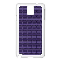 Color Of The Year 2018   Ultraviolet   Art Deco Black Edition Samsung Galaxy Note 3 N9005 Case (white)