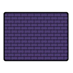 Color Of The Year 2018   Ultraviolet   Art Deco Black Edition Double Sided Fleece Blanket (small)