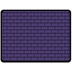 Color Of The Year 2018   Ultraviolet   Art Deco Black Edition Double Sided Fleece Blanket (large)