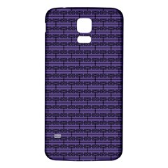 Color Of The Year 2018   Ultraviolet   Art Deco Black Edition Samsung Galaxy S5 Back Case (white)