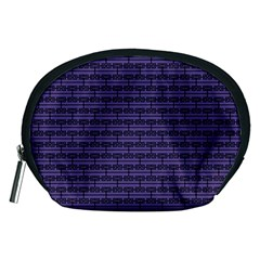 Color Of The Year 2018   Ultraviolet   Art Deco Black Edition Accessory Pouches (medium)